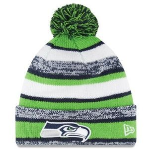 Seattle Seahawks Knit Beanie with Pom Pom - NFL